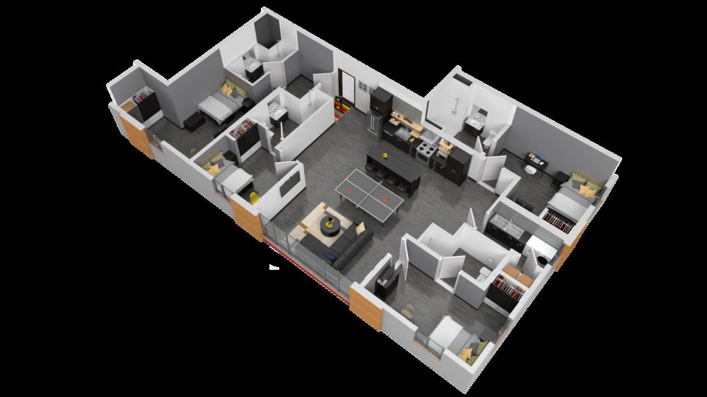 3D Rendering of Madison Floor Plan