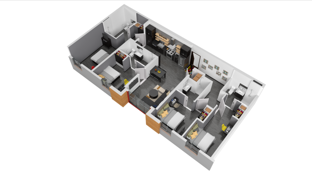 Finishes, furnishings, colors, views and other information described or depicted in these images are representational only and do not necessarily depict the final design of the unit.