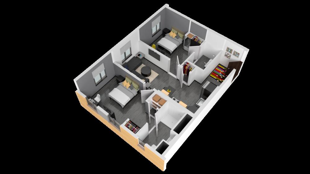 3D Rendering of Sumner Floor Plan