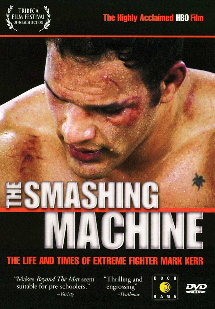 """HISTORY - Brought to you by executive producers Greg and Gavin O'connor (WARRIOR) THE SMASHING MACHINE is a feature-length documentary film chronicling troubled MMA superstar Mark Kerr, as he attempts to navigate the exotic and unregulated sub-cultures that surround the sport of mixed martial-arts. Through unfettered access, the likes of which would never be possible today, the film presents a raw and gut-wrenching portrait of a man battling personal demons both inside and outside of the ring.THE SMASHING MACHINE premiered at the 2003 Tribeca Film Festival, where it was acquired by Sheila Nevins and later aired as a part of the critically acclaimed documentary series HBO: AMERICA UNDERCOVER. Over the past fifteen years, as the popularity of MMA has exploded, all rights to the film have been left to lapse (including streaming rights which have never been exploited at all). In that same time period, THE SMASHING MACHINE has grown into a cult-classic, widely regarded by MMA enthusiasts as the best film ever made on the subject. """"The Smashing Machine is some of the most brutal 'sports entertainment' ever documented, without herding the viewer into a moralistic pen."""