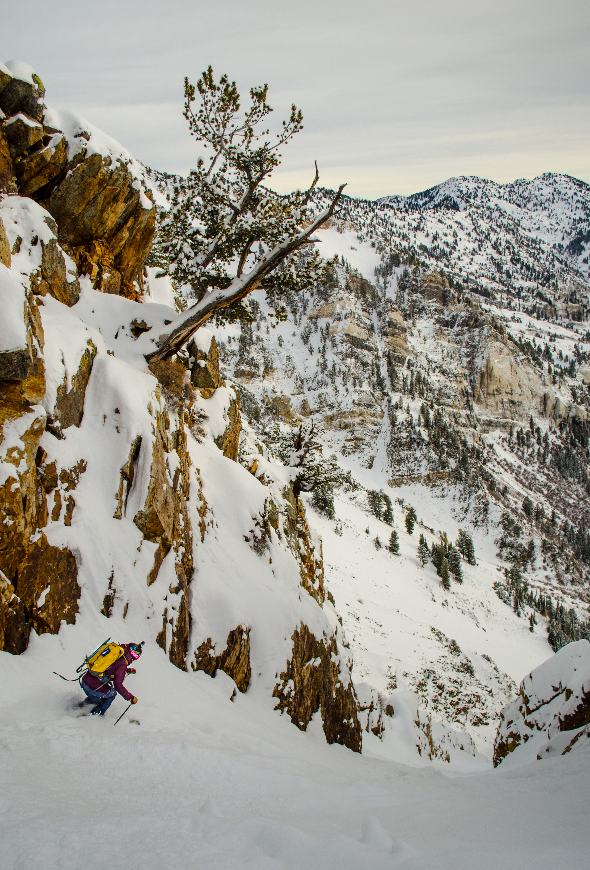 Skiing Utah's Suicide Chute