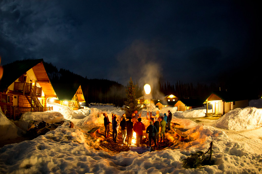 On the final day at Bell II Lodge, all of the guests enjoyed a bonfire in the center village and released paper lanterns carrying their greatest wish.