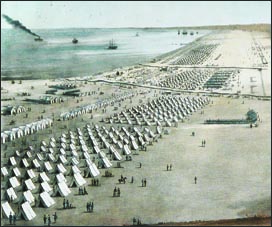 Taylor's Army of Occupation near Kinney's Rancho in 1845.