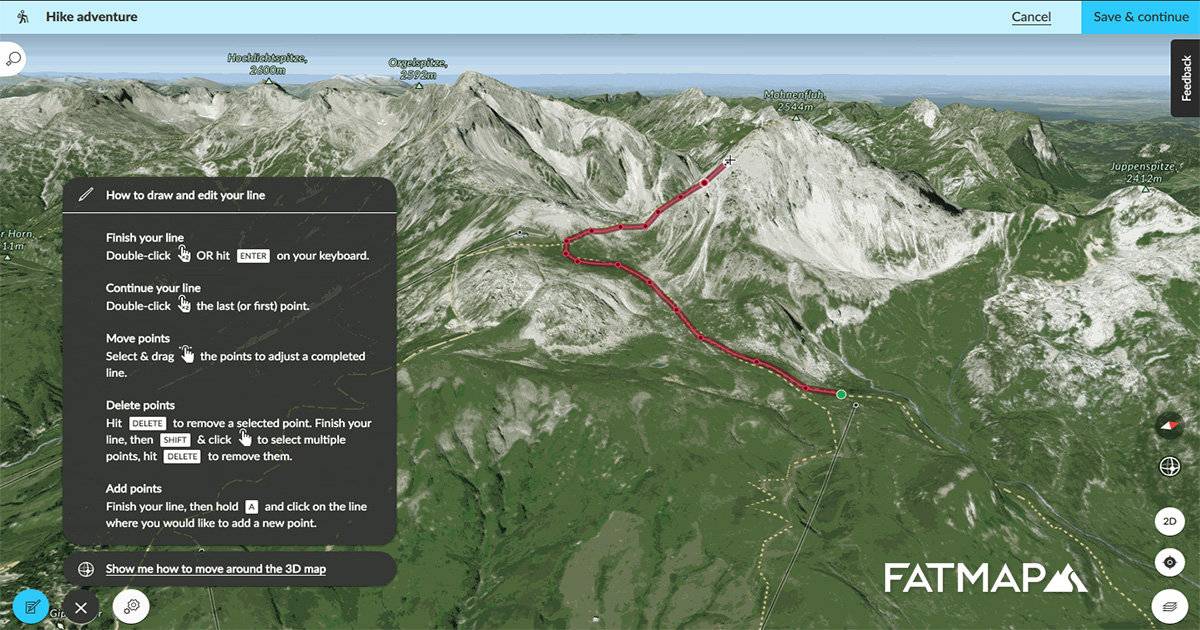 How to create adventures and import GPX files ⛰ — FATMAP