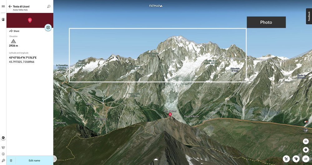 Ben's position on the Testa di Liconi.  Click through to see his Waypoint!