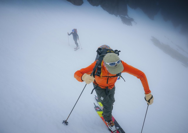 In low visibility, having a plan and a route to follow is crucial