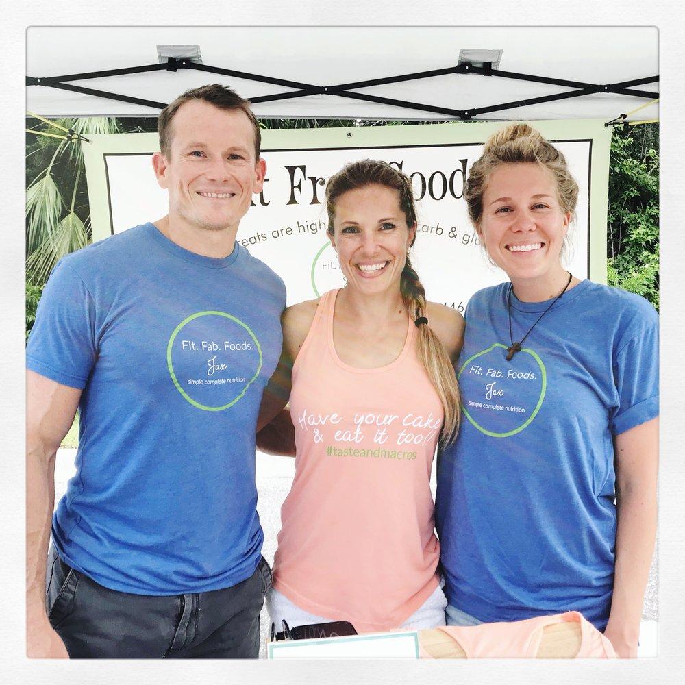 The Cake Pop Crew! {Rachel's husband & partner Chris Phillips, Rachel Phillips & Alli Dahl, the couples good friend & part time helper}