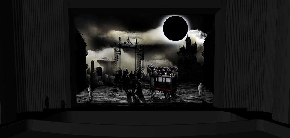 FINAL DESIGN | Act 3 Scene 2 - The Tombs of Edgardo's Ancestors - Photoshop Render