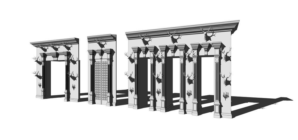 GREAT HALL WALLS - SketchUp Model
