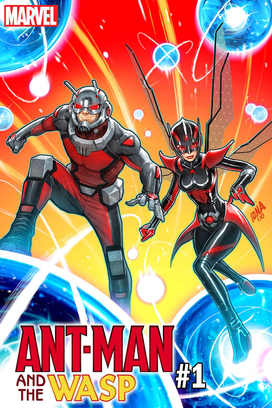 Ant-Man & the Wasp #1 (of 5) - Publisher: Marvel | Writer: Mark Waid | Artist: JAVIER Garrón | Cover Artist: David Nakayama | Color Artist: Israel Silva | Letterer: VC's Joe Caramagna| Release Date: June 6, 6018 | PRICE: $3.99This review may contains spoilers.Buy this comic from your local comic shop.Buy this comic at Comixology.Read other reviews on the blog.