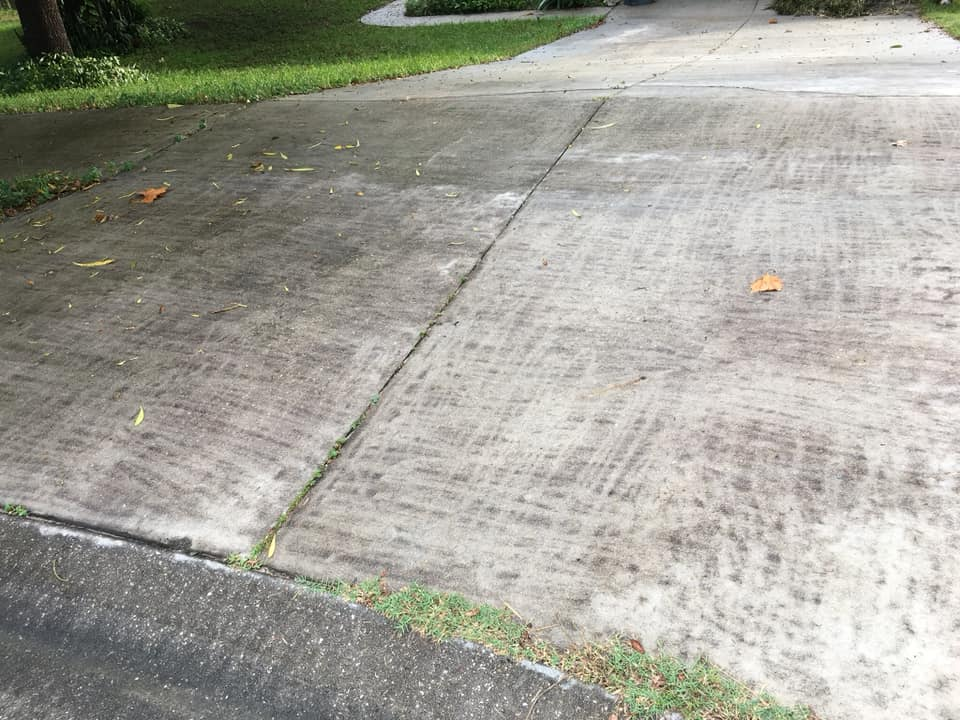 Driveway - This was done by the homeowner or neighbor. By using the incorrect tools to complete the job, the job is done incorrectly. Let the professionals handle this!
