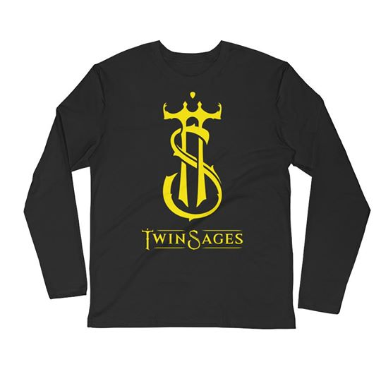 Long Sleeve Fitted Crew shirt with Twin Sages logo