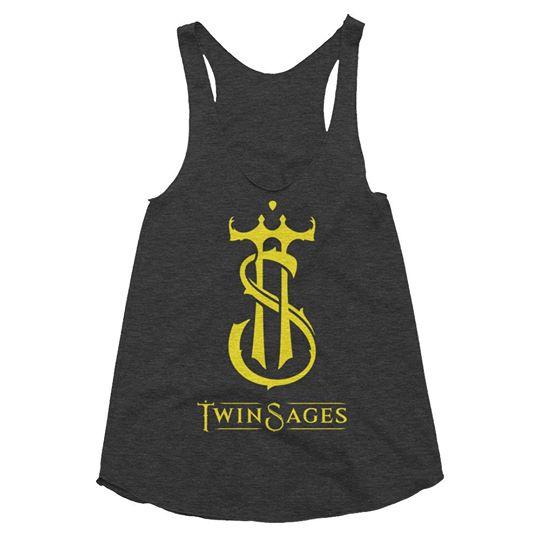 Twin Sages band logo Women's Tri-Blend Racerback Tank