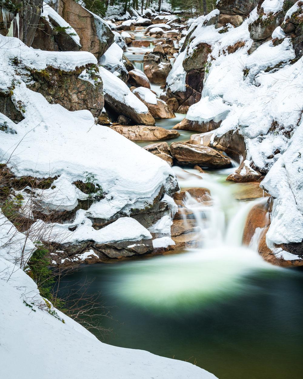 Sentinel Pine Covered Bridge's Waterfall