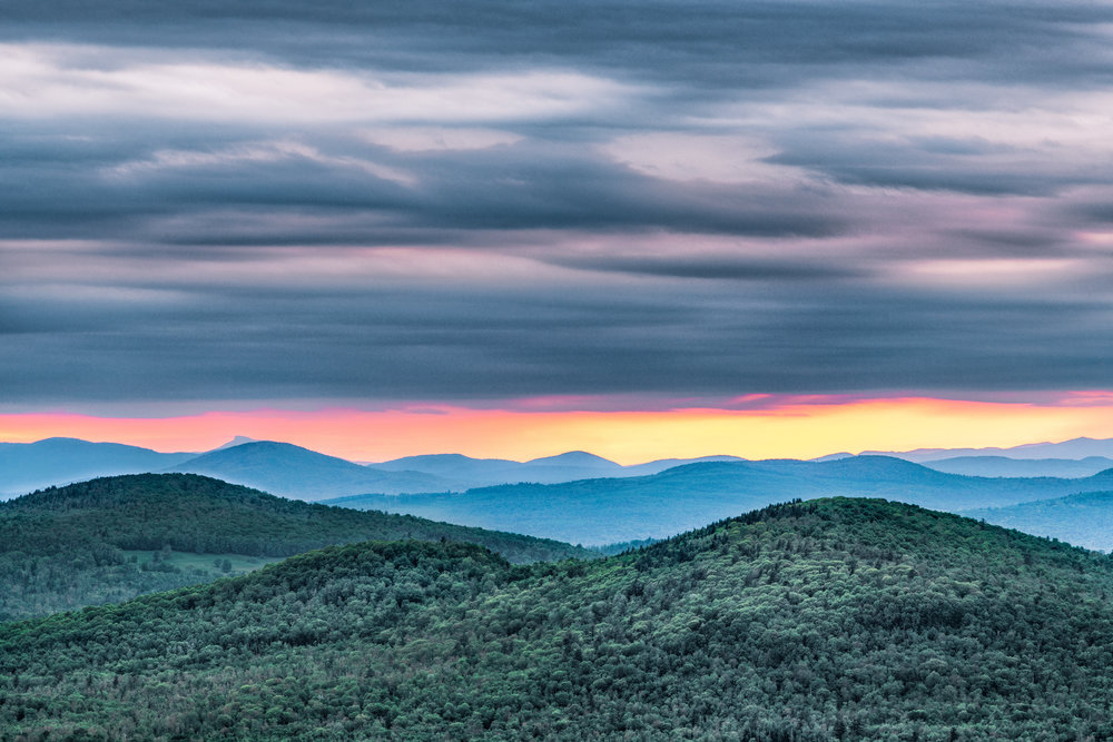 Sunset view at Bald Mountain