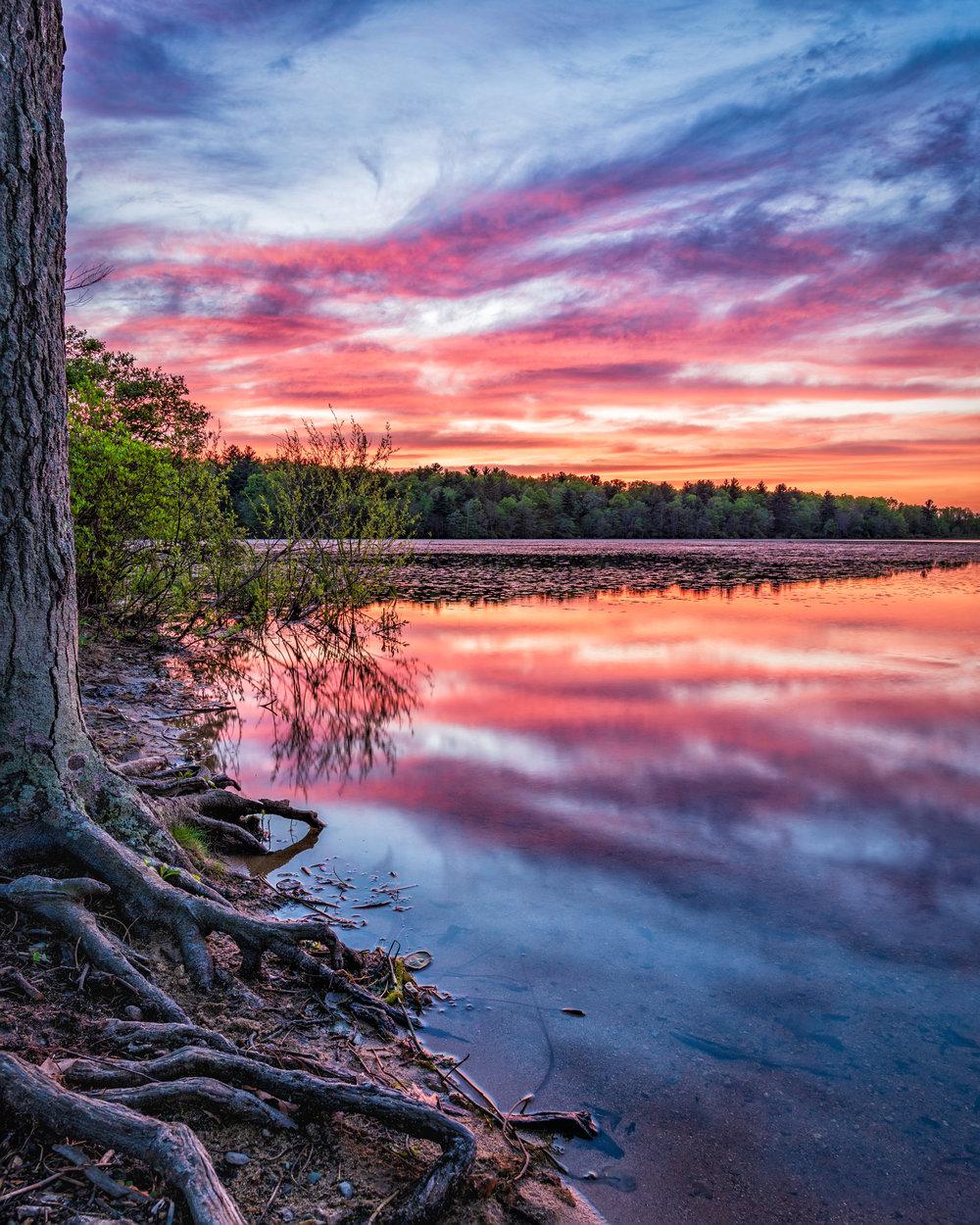 Sunset at Burrage Pond
