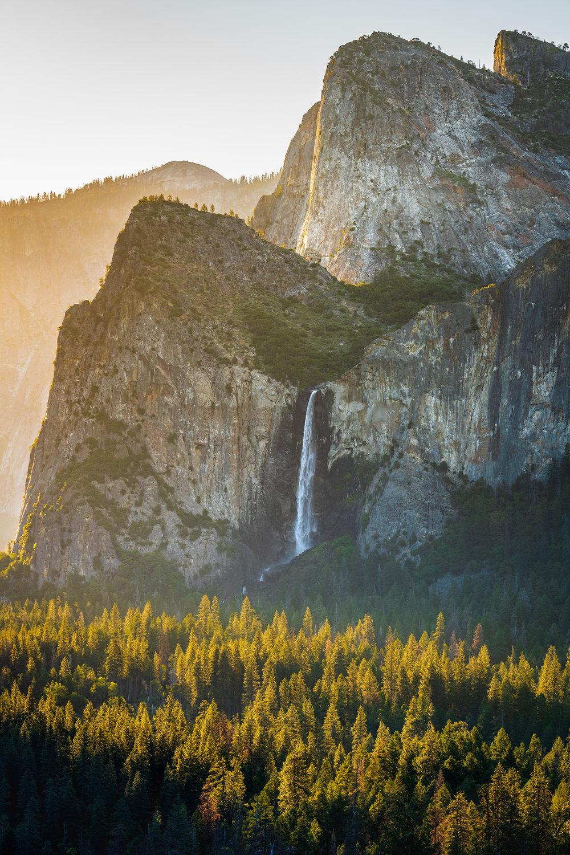 Sunset at Bridalveil Falls Yosemite