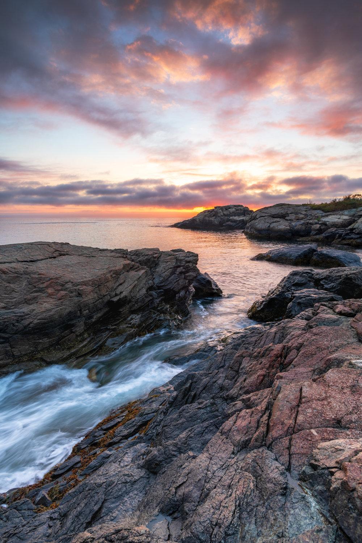 Sunrise at Castle Rocks Nahant
