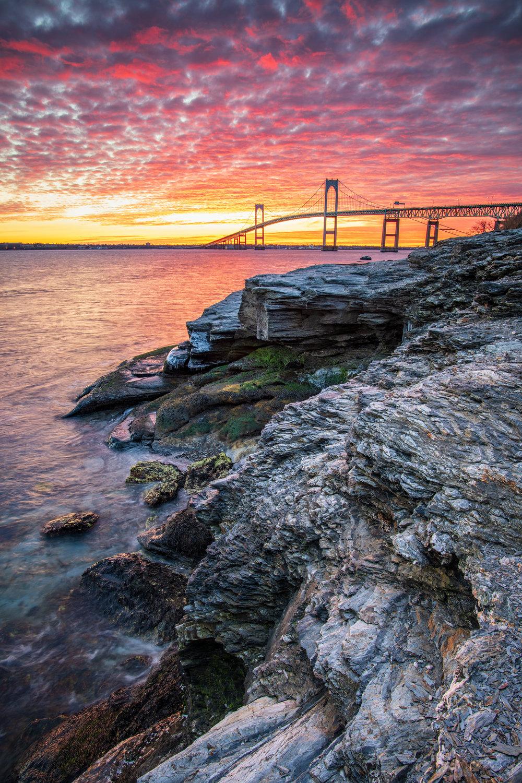 Sunset at Newport Bridge