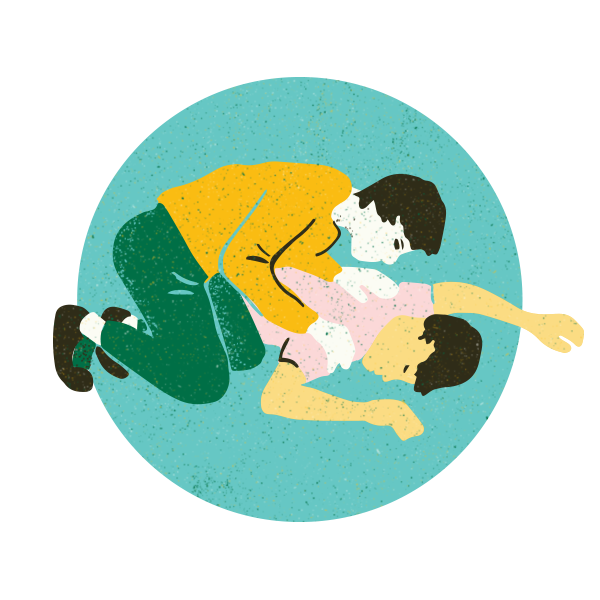 1. Stimulate - Perform sternal rub (with closed fist, rub knuckles up and down on person's chest). If the person is unresponsive, call 911 if you haven't already.