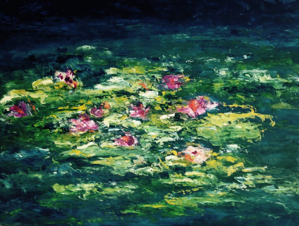 The Water Lillies 24x36 Oil on Canvas