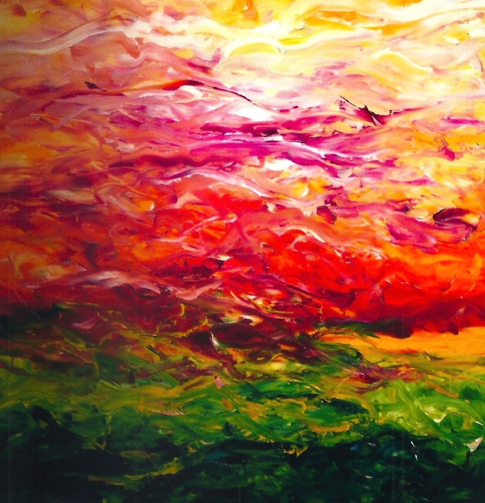 Summer's Love 36x36 Oil on Canvas