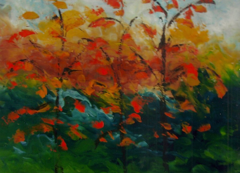Three Pear Trees by The River (sold)