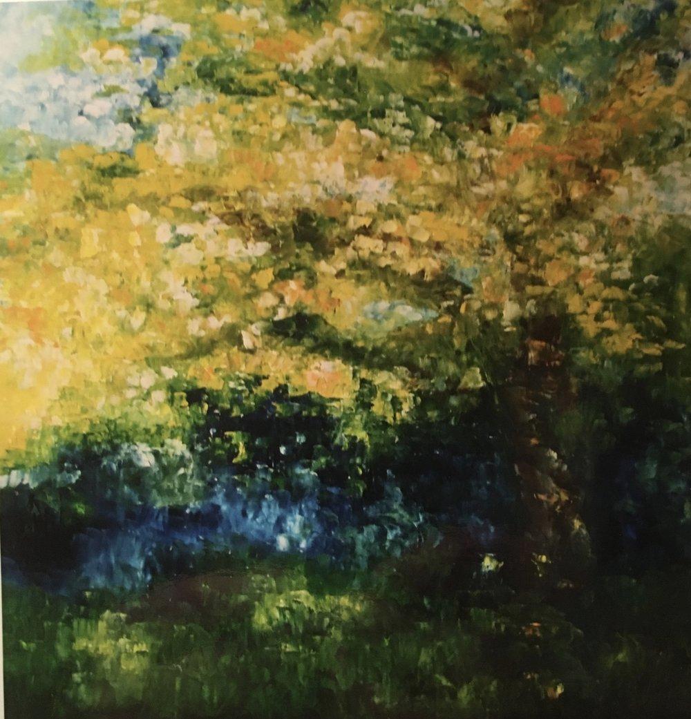 The Oak Tree in Summer 36x36 Sold