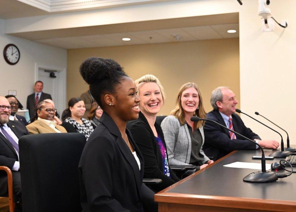Student testimony to legislature