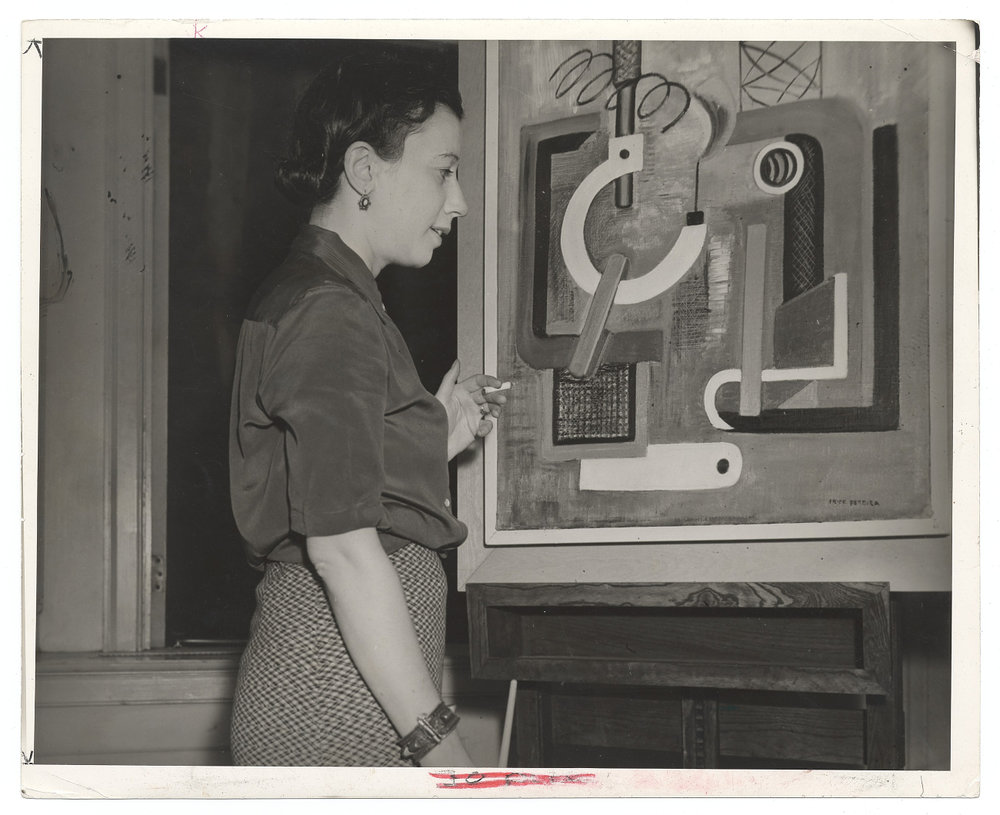 Irene Rice Pereira, 1938 Aug. 16 / Cyril Mipaas, photographer. Federal Art Project, Photographic Division collection, circa 1920-1965, bulk 1935-1942. Archives of American Art, Smithsonian Institution.