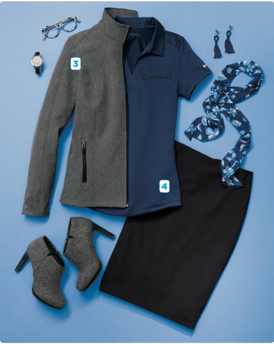 - 3. Port Authority Ladies Core Soft Shell Jacket4. Nike Ladies DRI-FIT Legacy Polo