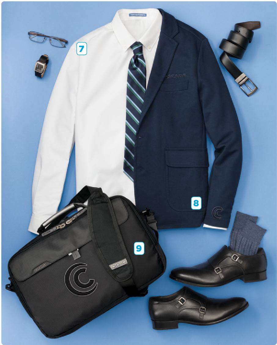 - 7. Port Authority Superpro Oxford Shirt8. Port Authority Knit Blazer9. Ogio Pursuit Messenger