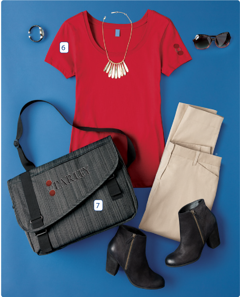 - 6. District Made Ladies Perfect Weight Scoop Tee7. Port Authority Crossbody Messenger