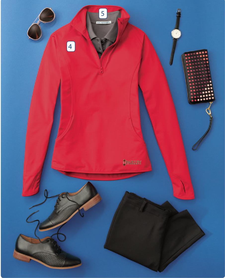- 4. Sport-Tek Ladies Sport-Wick Stretch 1/2 Zip Pullover5. Port Authority ladies Core Classic Pique Polo