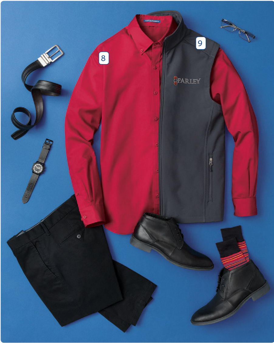 - 8. Port Authority Superpro Twill Shirt9. Port Authority Core Soft Shell Vest