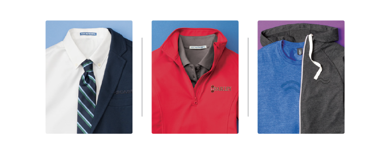 Step Two - Select coordinating styles that reflect your company's culture.