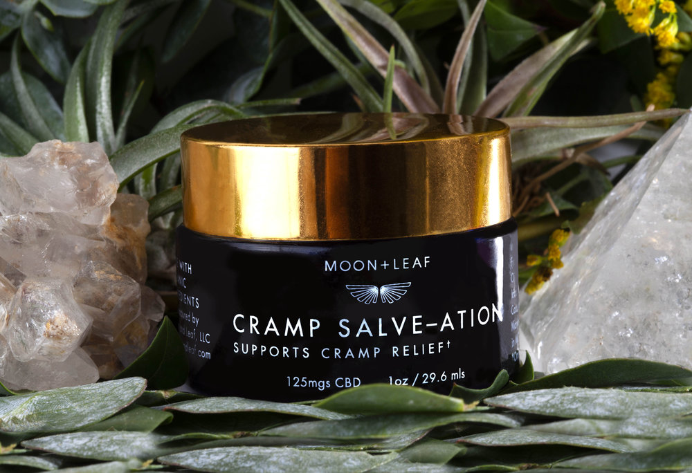 Cramp Salve-ation - This luxurious salve cannot wait to be massaged into your belly and achy muscles to soothe cramps and pain.