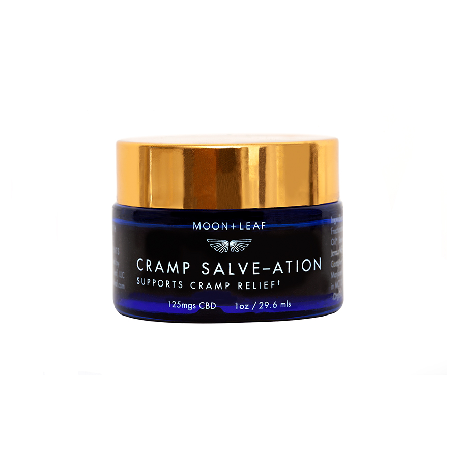 CRAMP SALVE–ATION - 125 mgs CBDThis luxurious body rub helps soothe cramps and back pain. Salvation found.Learn More