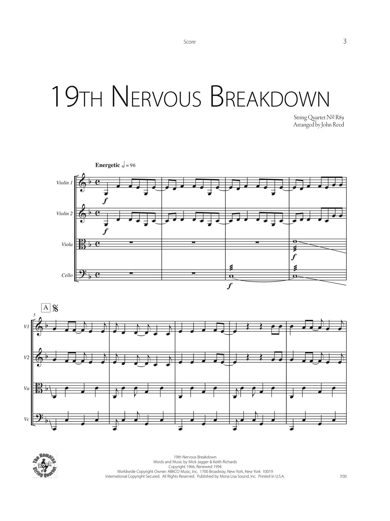 Broadway String Quartet Sheet Music
