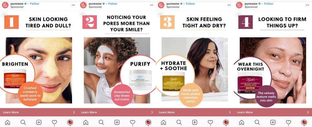 PureWow Kiehls Face Mask Advertisement Instagram.jpg