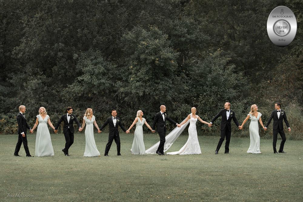 Bröllopsfotograf John Hellström vann silver i SM i fotografi 2018 i kategorin Bröllop med denna bild.