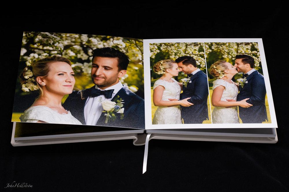 Deras handgjorda Italienska bröllopsbok / bröllopsalbum från Album Epoca.