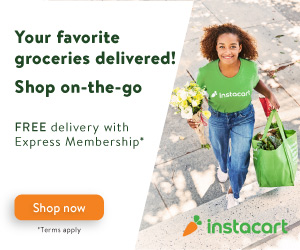 Shop on-the-go. Your favorite groceries delivered!