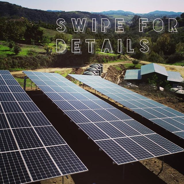 A recent #solar project for an Avacado farm in California. This 38kW PV system is supported on 36 ground screws which were set in less than a day!! No more hole digging or concrete pouring!! #firstinsandiego #dontaskaboutthepermitprocess . . . . #solarpower #solarpanels #solargroundmount #renewableenergy #offgrid #cleantech #cleanenergy #agriculture #groundscrews