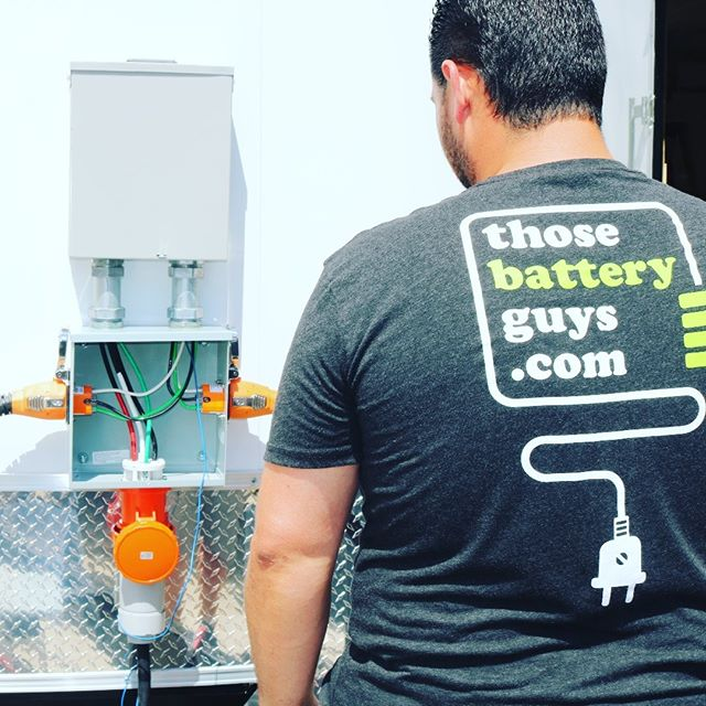 Inspecting a distribution box for a custom-built #offgrid energy system for a mobile medical clinic headed to Puerto Rico . . . . #thosebatteryguys #epxgroup #energystorage #renewableenergy #cleanenergy #solar #solarenergy #battery #lithium #energy #power #cleantech #smartgrid #microgrid