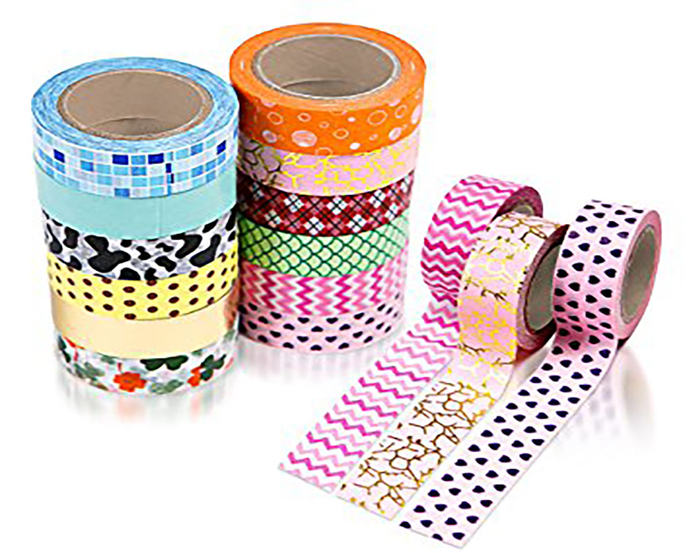 Washi tape, ribbon, lace.