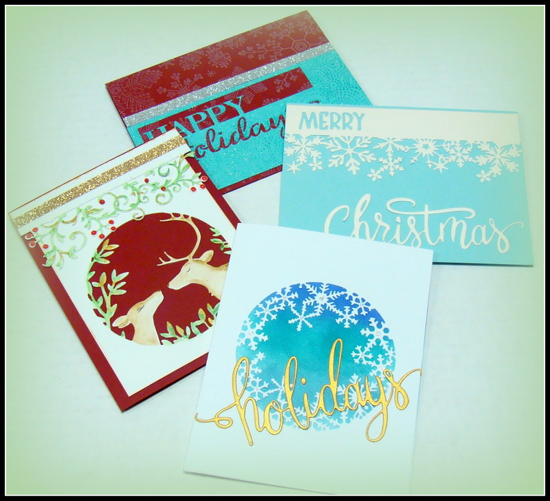 Die Cut Christmas Cards — My Heart\'s Fancy
