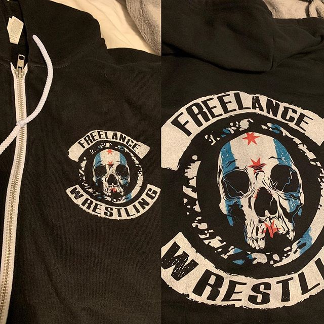 ‪It's getting chilly out there, why don't you pick up one of these brand new Freelance Chicago hoodies! ‬ ‪Ranging in sizes from S-5XL starting at $40!‬ ‪Preorder them NOW at www.freelancewrestling.com ‬