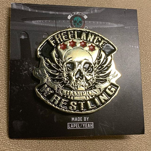 Brand New Merch Alert!! Freelance Championship Pin  From the fine folks @lapelyeah 🤟  Pick these up at the next show for $10  Or can be shipped for $15, just send money (via PayPal) and info to freelancewrestling@gmail.com