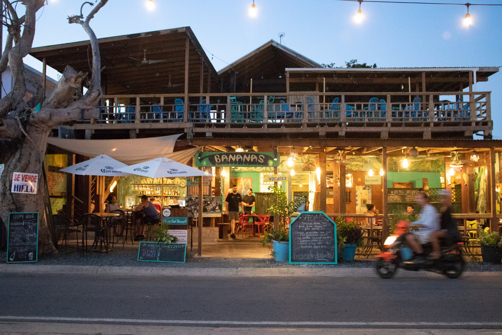 Bananas bar is authentically Caribbean with open-air seating that faces the ocean.